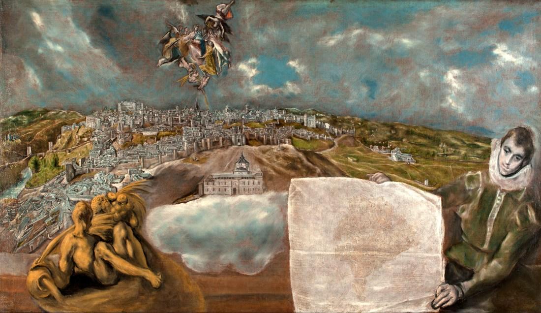 Toledo pintura y plan de la ciudad de El Greco 1610-1614