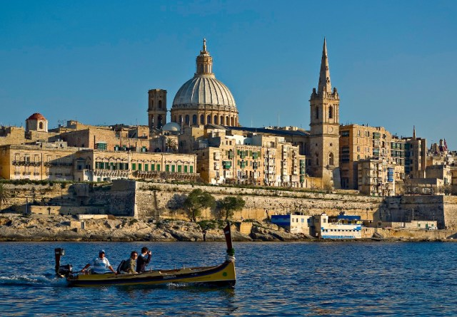 Malta - Valletta from Marsamxett  Harbour - by Clive Vella