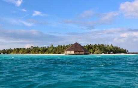 Vistas del resort de delante de nuesta isla