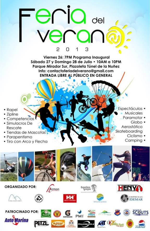 Feria del Verano en el Parque Mirador Sur