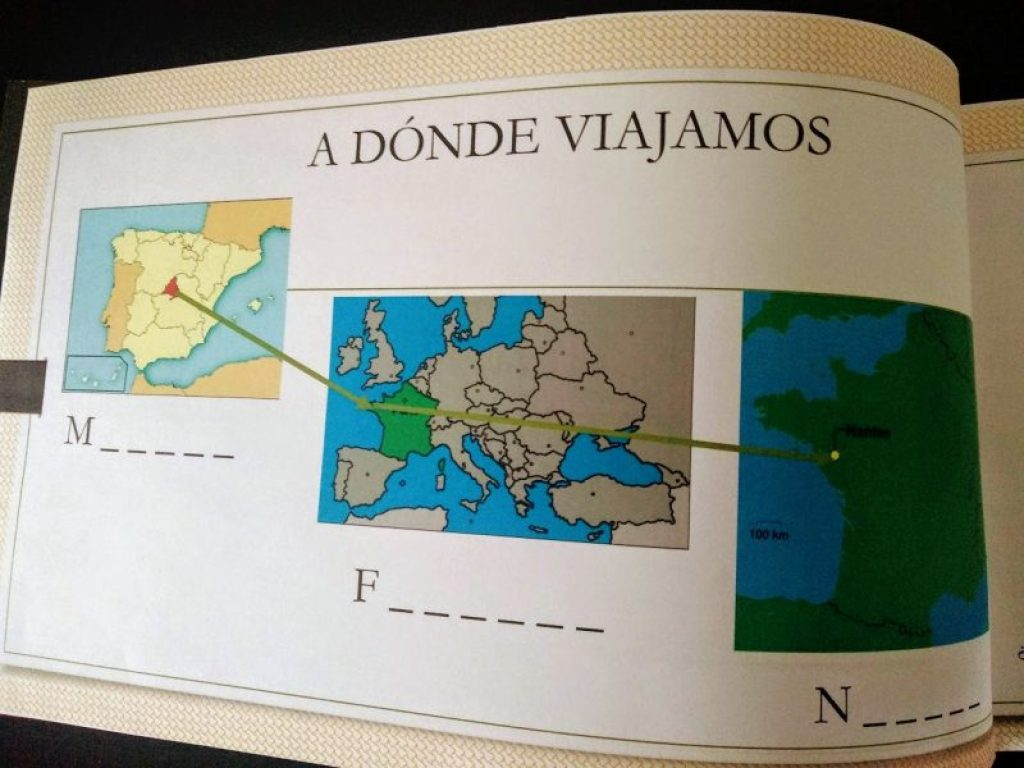 mapas de situación de madrid y nantes