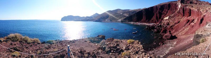 Red beach de Santorini
