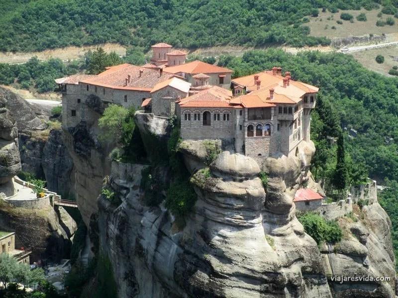 Monasterio de Varlaam en Meteora, en Tesalia (Grecia)
