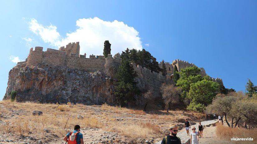 Acrópolis de Lindos en la isla de Rodas