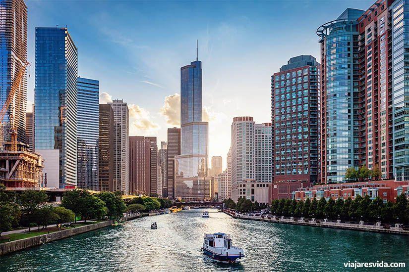 Uno de los canales de Chicago
