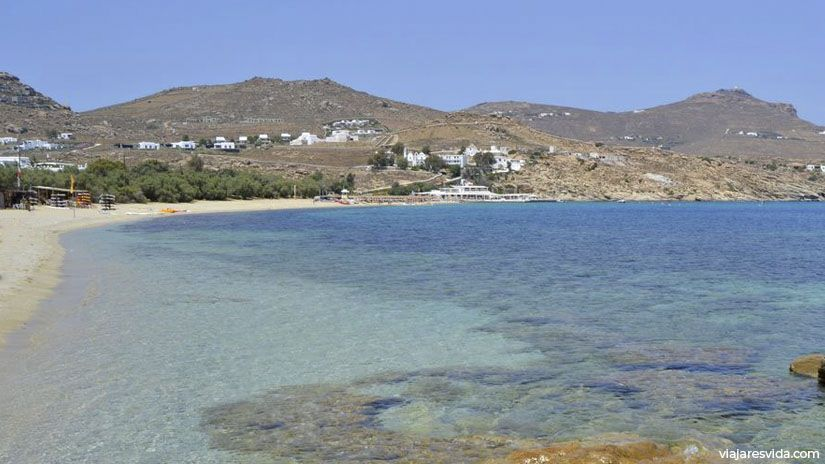 Playa Kalafatis en Mykonos