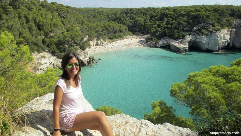 Panorámica Cala Mitjana en Menorca
