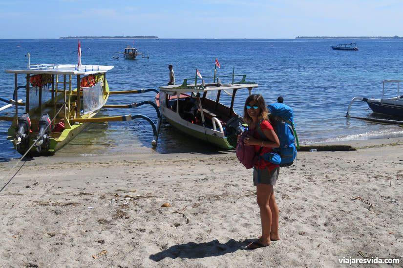Embarcando rumbo a las islas Gili