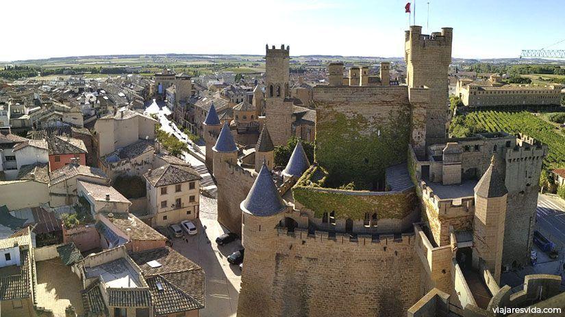 Vistas del Castillo de Olite desde la Torre de la Atalaya