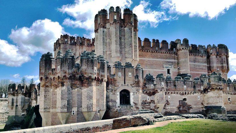 Castillo de coca, España.
