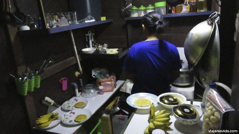 Cocina del klotok