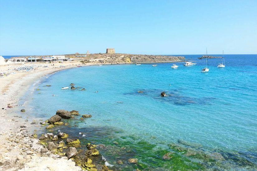Platja de l'Illa (playa de la isla de Tabarca)