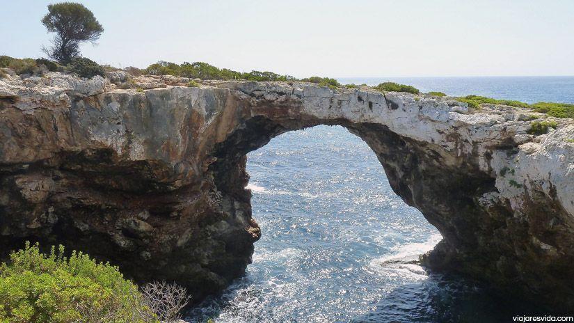 Puente d'Es Caló Blanc en Mallorca