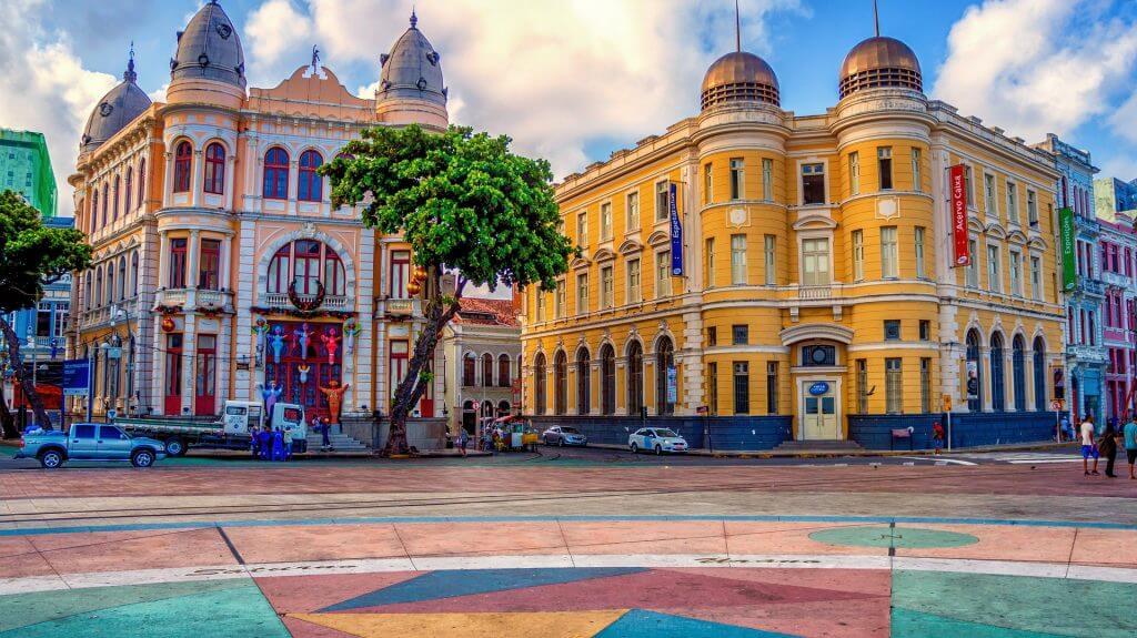 Casco viejo de Recife en Brasil