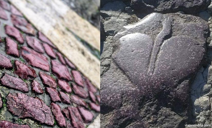 Corazón de Nerón - adoquín en la Plaza de San Pedro