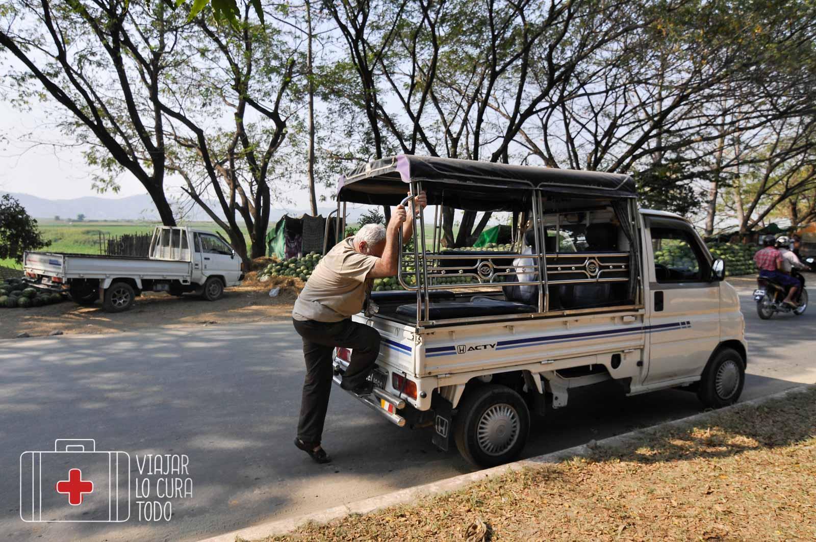 Tuk tuk en Myanmar
