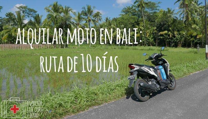 Alquilar moto en Bali: ruta de 10 días