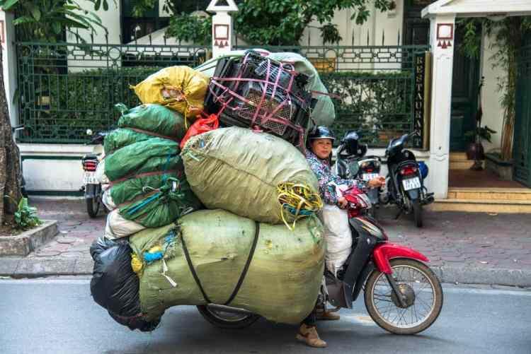 moto cargada asia