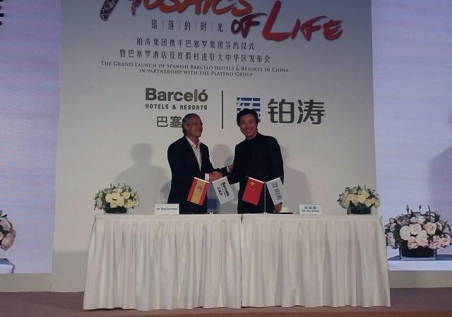 Barceló Hotel Group firma un acuerdo con el gigante chino Plateno