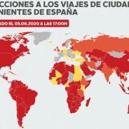 Los 28 países que imponen cuarentena a españoles