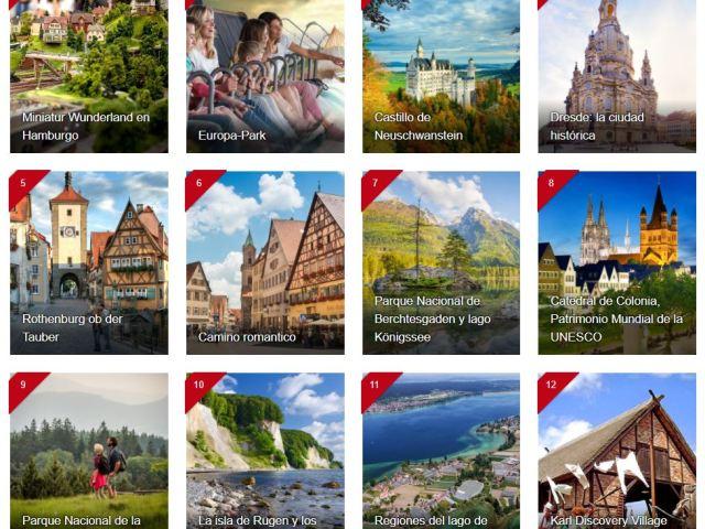 Los 100 lugares turísticos más populares de Alemania
