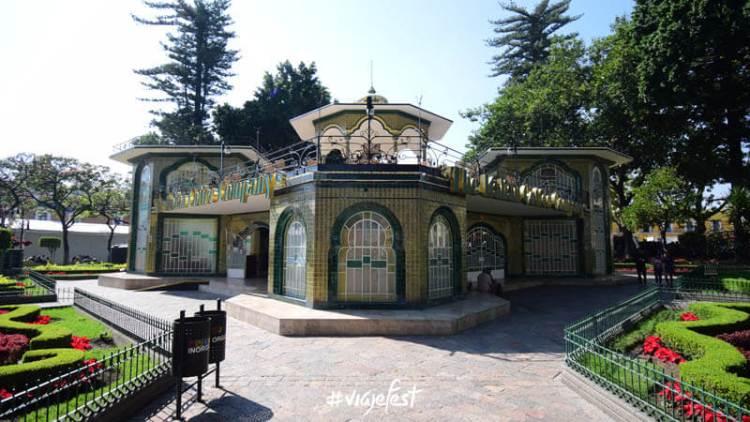 El Kiosco de Atlixco es uno de los más bonitos del estado de Puebla.