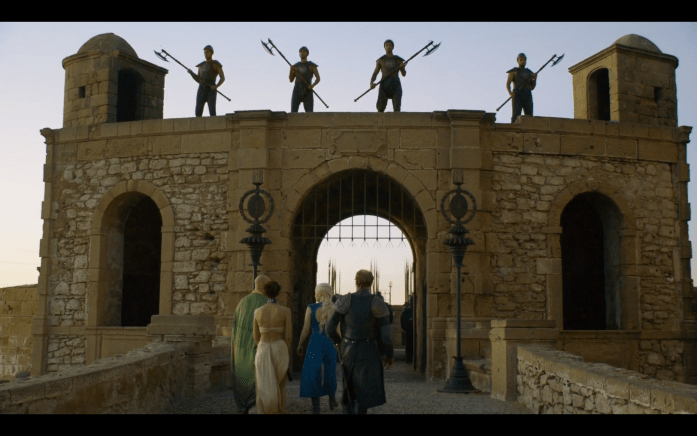 Khaleesi goes to meet the Unsullied