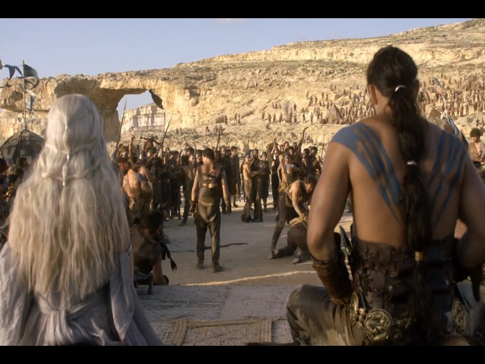 The wedding of Khaleesi to Khal Drogo