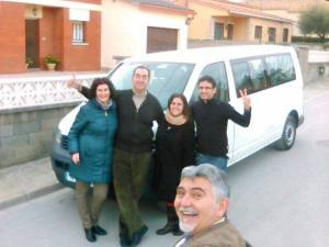 Viajeros de BcnTB con SocialCar