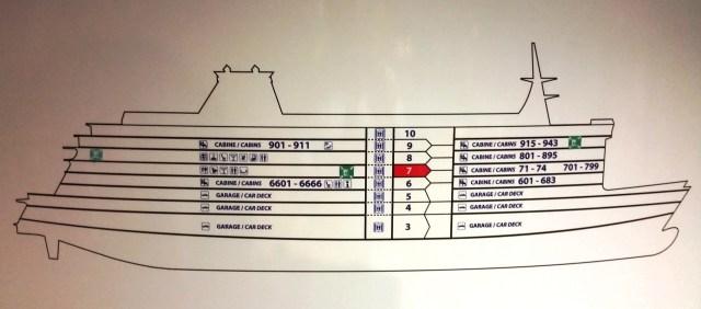 Panel informativo con esquema del barco ADRIATICO