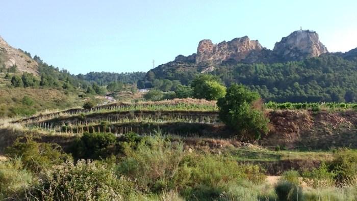 Subida hacia los riscos de Bilibio, que separan La Rioja de Burgos.