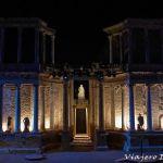 Una noche en el Teatro romano de Mérida.