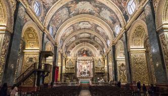 La Valletta, visitando la Co-Catedral de San Juan.