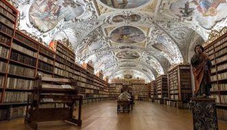 El Monasterio de Strahov y sus bibliotecas.
