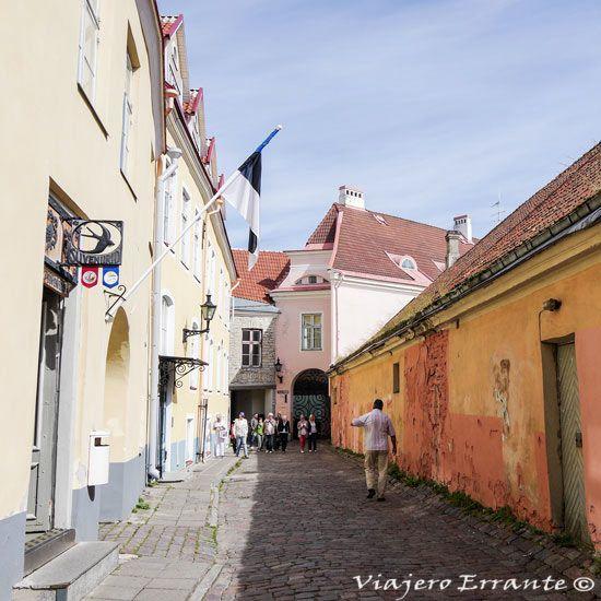 Una de las calles de Tallin