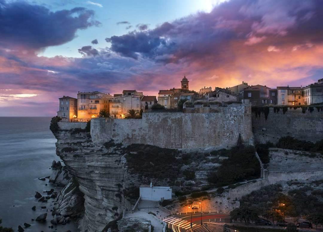 View of the city of Bonifaccio in Corsica