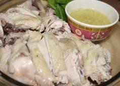 Pollo cocido a baja temperatura con jengibre