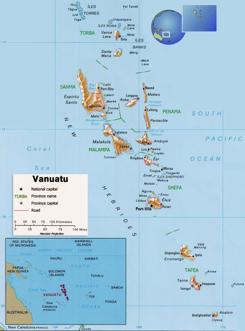 Resultado de imagen de MAPA DE VANUATU