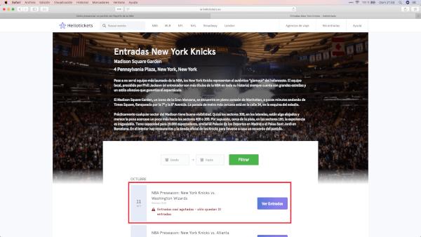 Cómo comprar entradas NBA