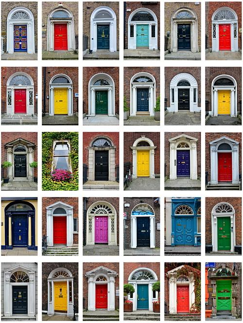 Los colores de dubl n veintinueve puertas y una ventana - Colores para puertas ...