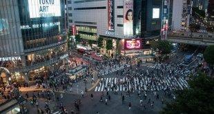 El famoso cruce en diagonal de Shibuya