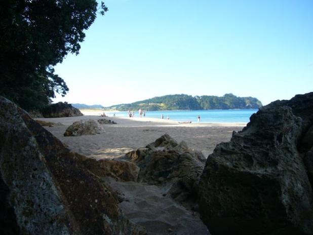 Hot beach water