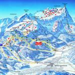 Mapa pistas de esquiar en los alpes alemanes
