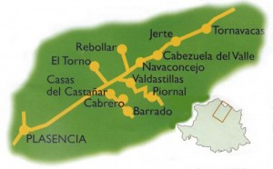 Mapa Valle del Jerte