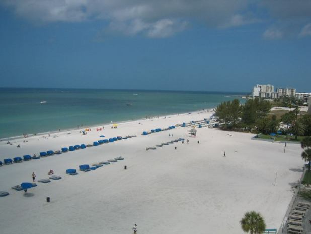 La playa de Saint Pete Beach en Florida