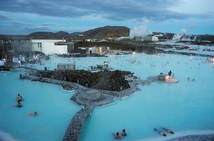 La laguna azul en Islandia