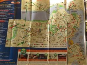 Mapa de Boston con monumentos