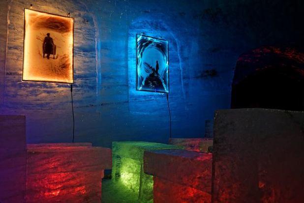 salon chaleureux de la mer de glace