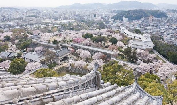 El palacio de Himeji en Japón