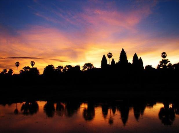 amanecer en Angkor Wat, Camboya